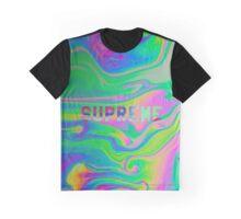 SUPREME GOOP WARP TRIP GREEN PURPLE WATER LSD ACID oil spill Graphic T-Shirt