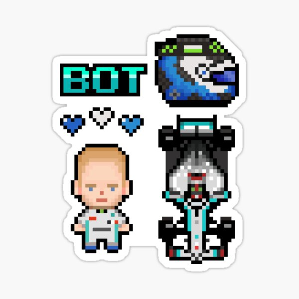 Pixel Valtteri Bottas F1 2020 Sticker