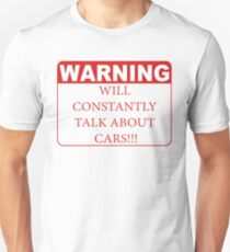 warning cars Unisex T-Shirt