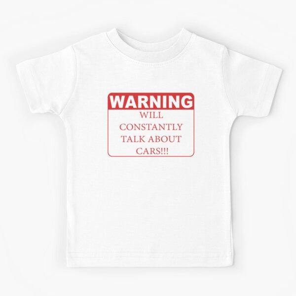 warning cars Kids T-Shirt