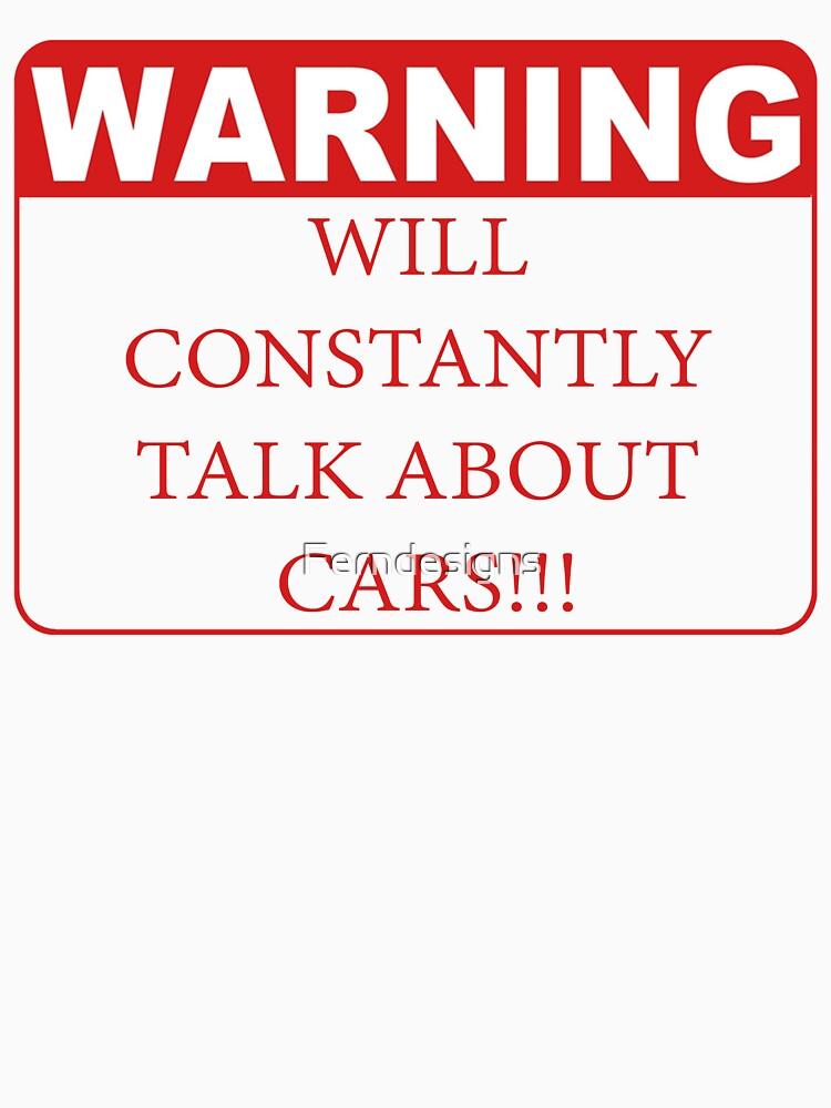 TShirtGifter presents: warning cars | Unisex T-Shirt