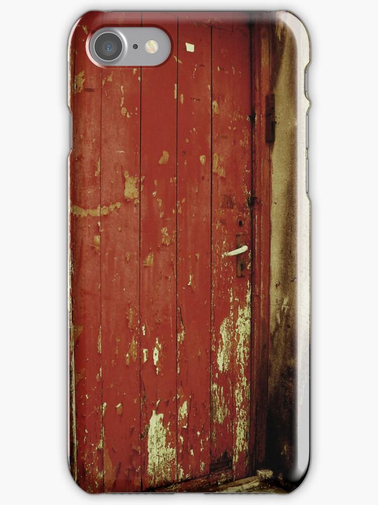 Unique Vintage Red Door Texture Style by scottorz
