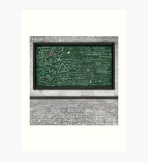 maths formula Art Print