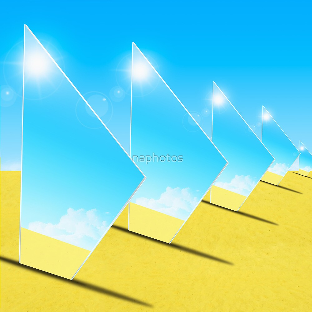 triangle mirrors by naphotos