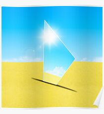 triangle mirror Poster