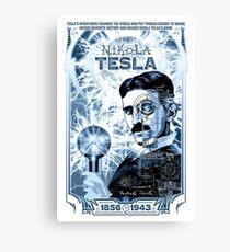 Inventor Nikola Tesla. Thomas Edison. Electricity Canvas Print
