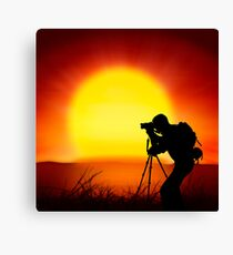 shooting the sun Canvas Print
