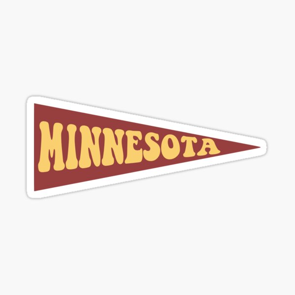 Minnesota Pennant Sticker