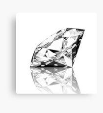 brilliant cut diamond  Canvas Print