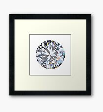 brilliant cut diamond  Framed Print
