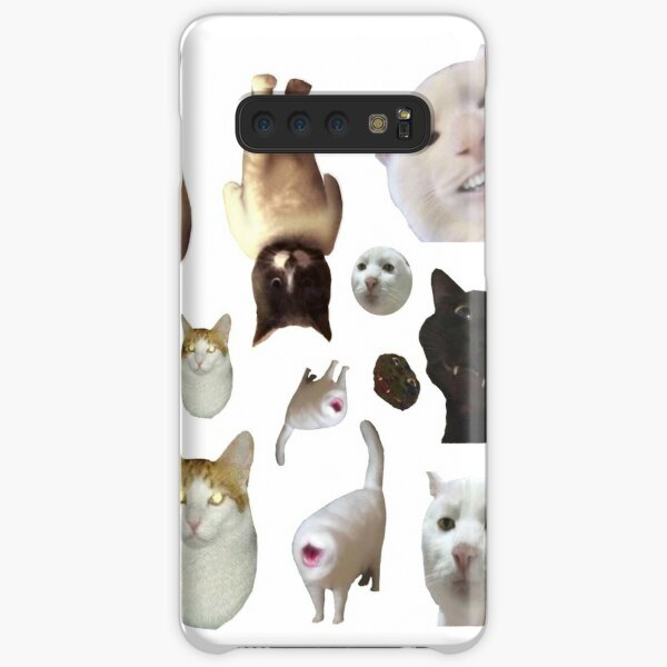 Pack of 12 Cat Memes Sticker Combo - MORE Obscure Cursed Cat Memes 2 Samsung Galaxy Snap Case