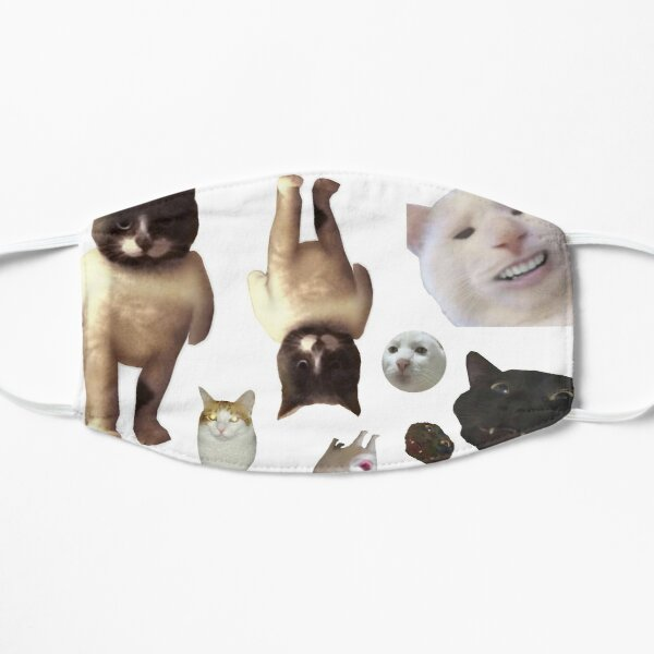 Pack of 12 Cat Memes Sticker Combo - MORE Obscure Cursed Cat Memes 2 Mask