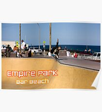 Layback Rollout - Empire Park Skate Park Poster