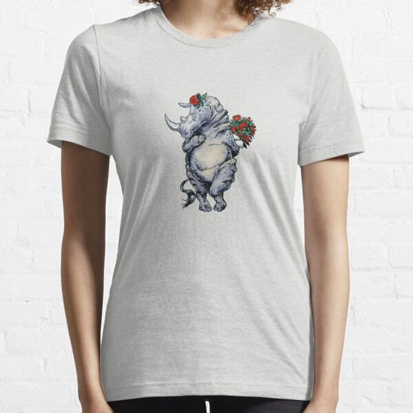 Bashful Rhino Animal Lover's Design Essential T-Shirt