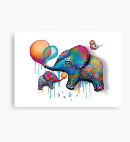 Party Elephants Canvas Print