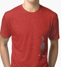 Snowy Egret Tri-blend T-Shirt