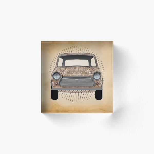 Classic English Car Acrylic Block