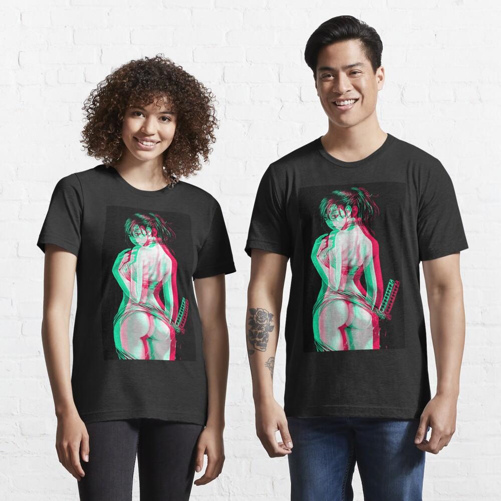Anaglyph Anime Katana Girl  Essential T-Shirt