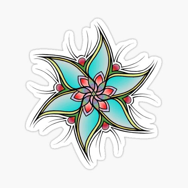 Impulsive Egg Flower Mandala 1 Sticker