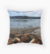 Gosford waterfront Throw Pillow