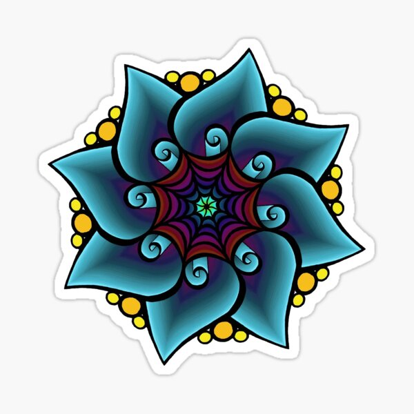 Impulsive Egg Flower Mandala 2 Sticker