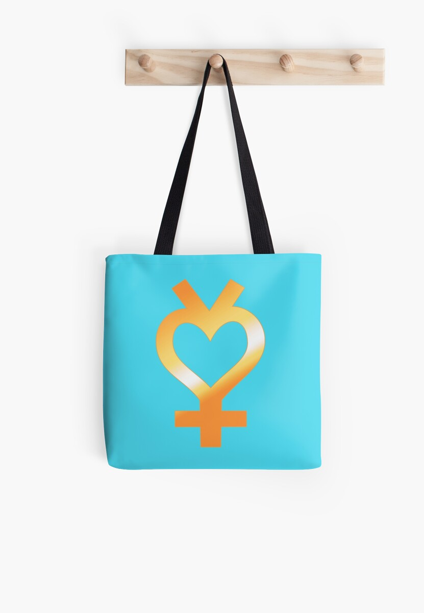Gold Sailor Mercury Symbol Tote Bags By Ali Cooney Uribe Redbubble