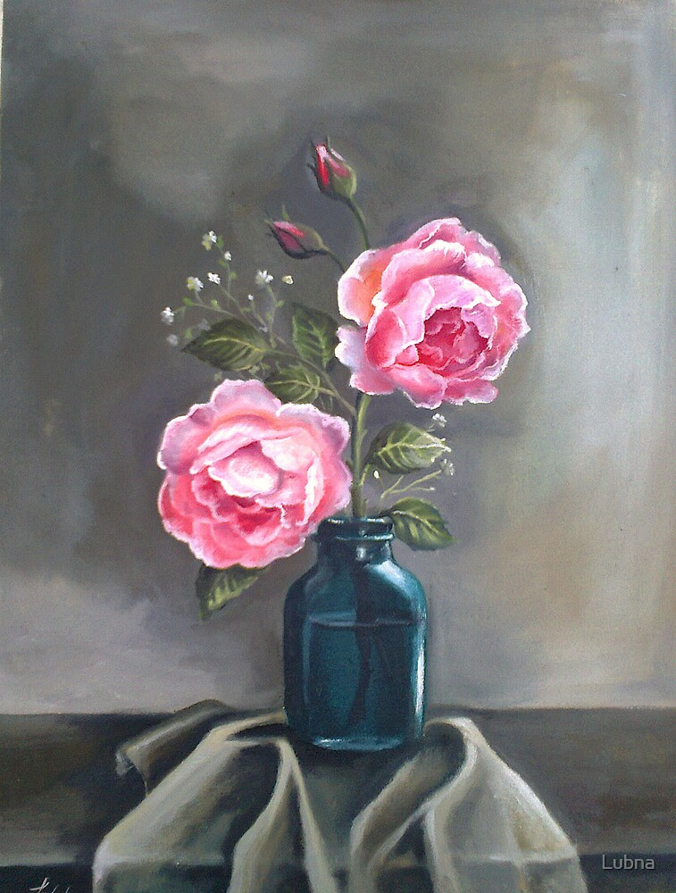 Pink Roses by Lubna