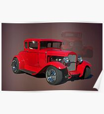 1929 Ford Hot Rod Poster