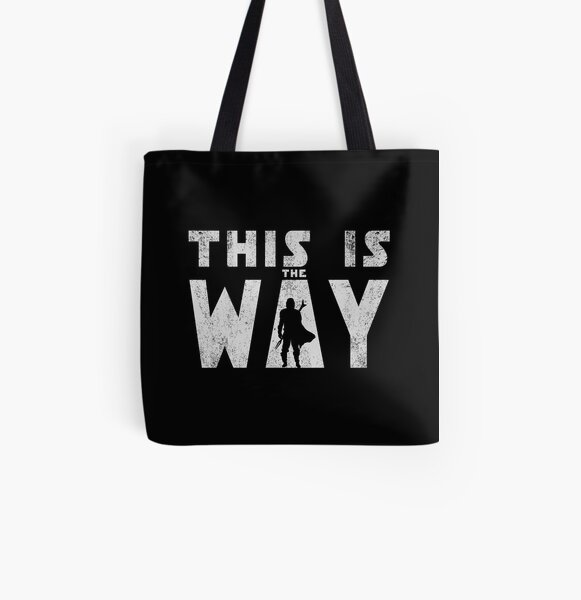 this is the way mando retro grey All Over Print Tote Bag