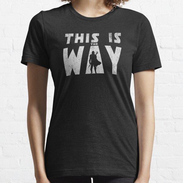 this is the way mando retro grey Essential T-Shirt