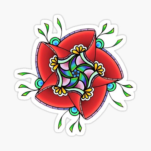Impulsive Egg Flower Mandala 4 Sticker