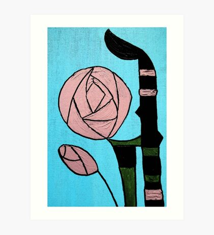 Rose: In the style of Mackintosh Art Print