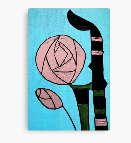 Rose: In the style of Mackintosh Canvas Print