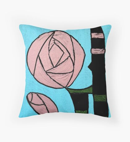 Rose: In the style of Mackintosh Throw Pillow