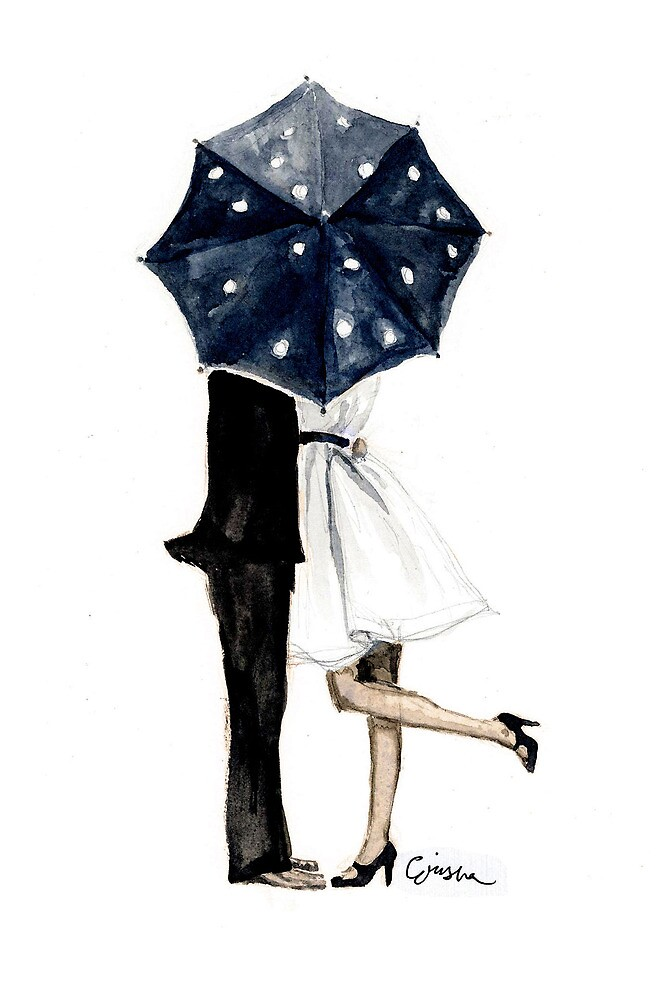 Behind the Umbrella by rishann
