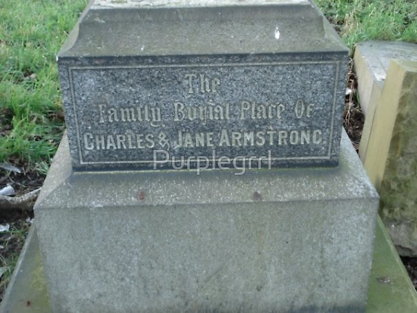 Armstrong Tomb Elswick Cemetary Newcastle  by Purplegrrl