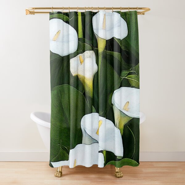 Arum Lilies Shower Curtain