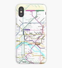 Paris Metro map iPhone Case/Skin