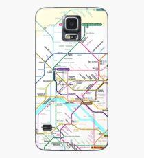 Paris Metro map Case/Skin for Samsung Galaxy