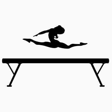 Gymnastics Beam Splits by pilotof727s