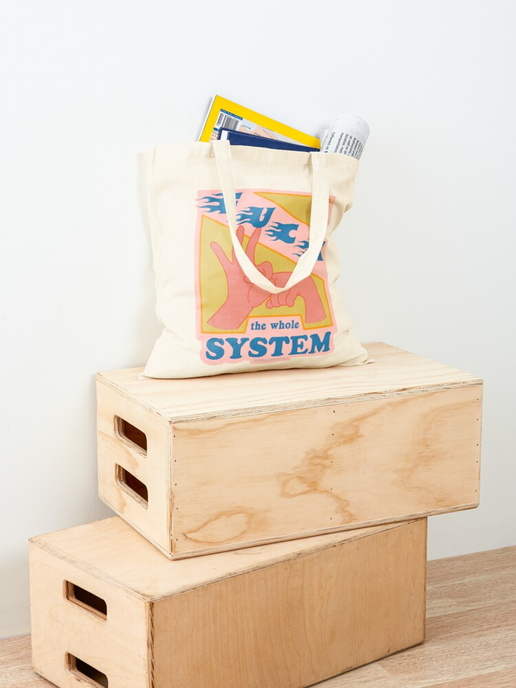 Alternate view of F*ck The System - The Peach Fuzz Tote Bag