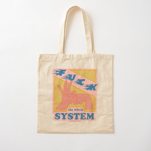 F*ck The System - The Peach Fuzz Cotton Tote Bag