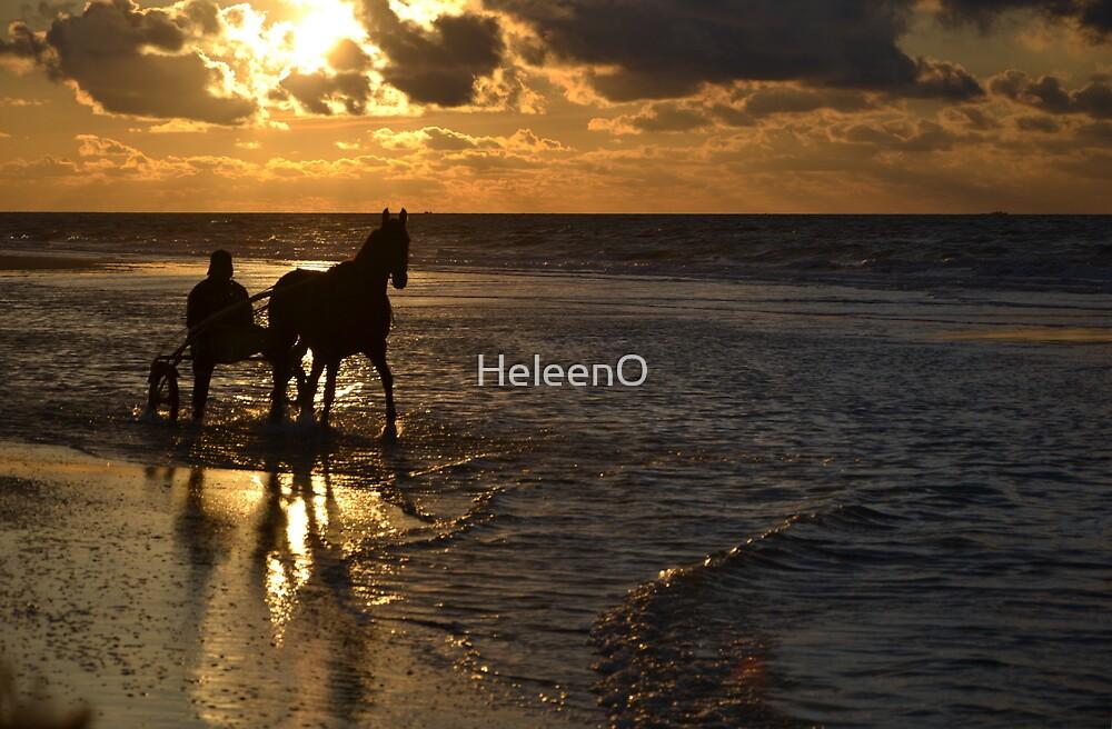 Sunset at Sea III by HeleenO