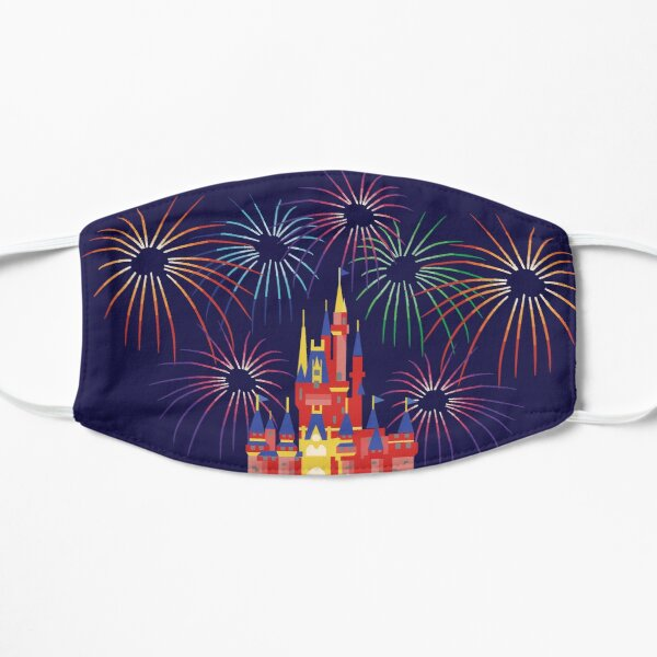 Happily Ever After Fireworks Flat Mask