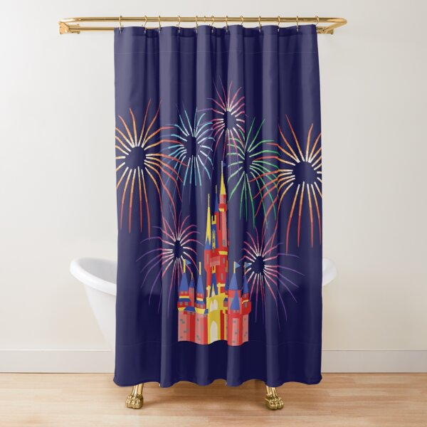 Happily Ever After Fireworks Shower Curtain