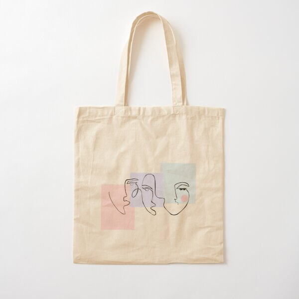 Triple Face Abstract Cotton Tote Bag