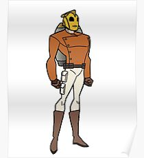 Bruce Timm Style Rocketeer Poster