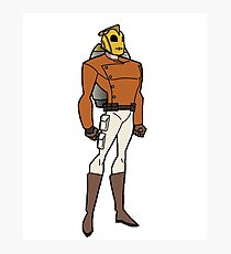 Bruce Timm Style Rocketeer Photographic Print