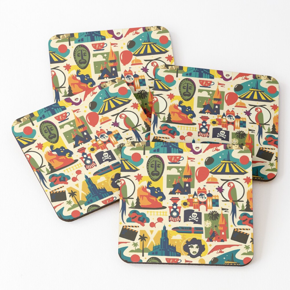 Magical Pattern Coasters (Set of 4)