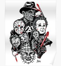 Horror Icons Poster